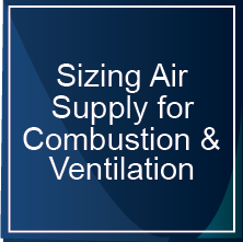 Sizing for Air Supply Combustion/Ventilation