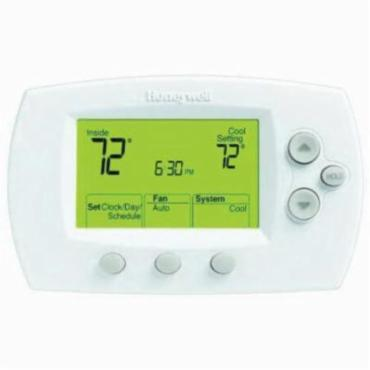 Honeywell Focuspro Th6220d1028 U 6000 Programmable Thermostat 40 To 90 Deg F Control 5 1 2 Days Programs Per Week Terminal Designations R Rc C